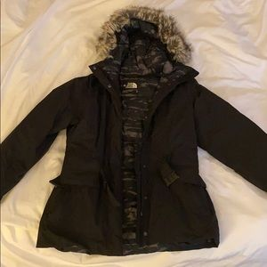 North Face jacket with hood for women